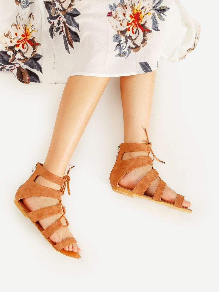 Shop Lace Up Gladiator Flat Sandals online. SheIn offers Lace Up Gladiator Flat Sandals & more to fit your fashionable needs.