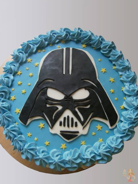 Fondant cake tutorials #3: Darth Vader cake tutorial - CakesDecor