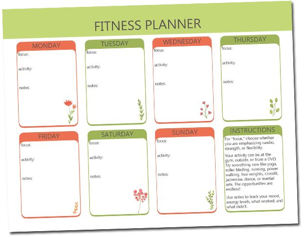 photograph about Free Printable Fitness Planner named Conditioning Planner Printable Air Media Style and design