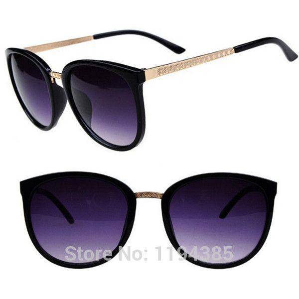 Новинка старинные большие линзы бренда дизайн металлические солнцезащитные очки роскошных ретро женские круглые солнцезащитные очки gafas óculos де золь купить на AliExpress