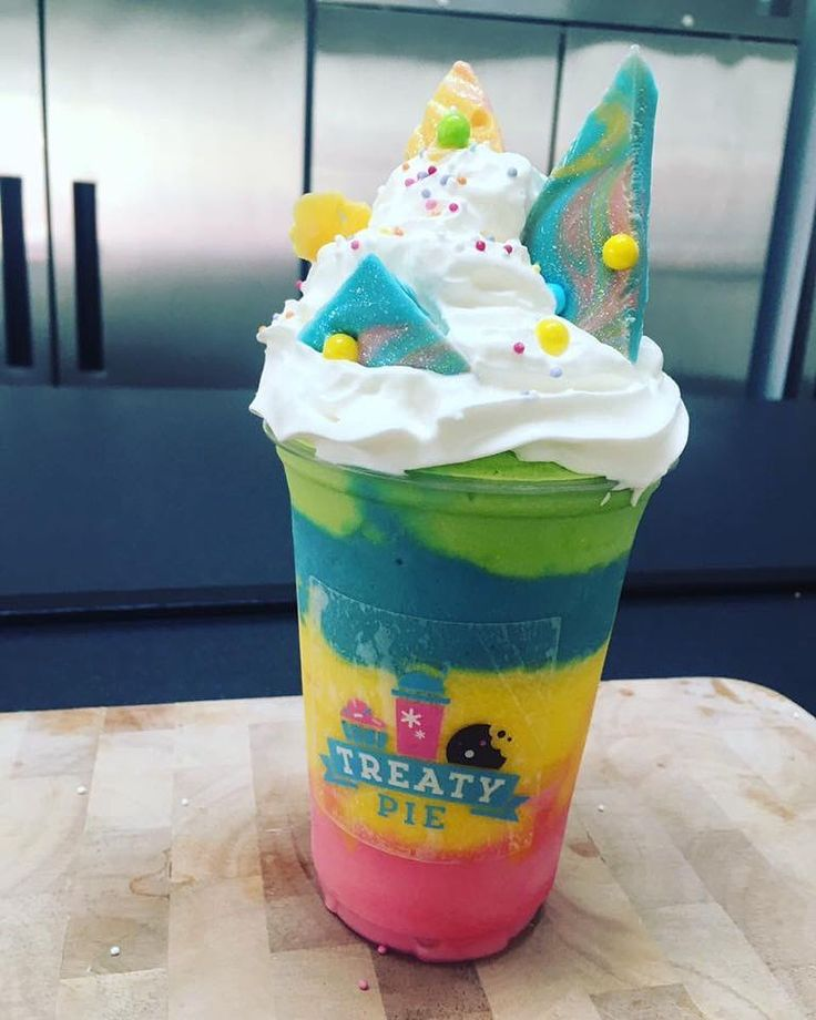 """173 Likes, 8 Comments - Treaty Pie (@treatypieuk) on Instagram: """"The brightest shake on the block is back tonight! 🌈 The unicorn 🦄 in all its glory 🦄 Order early to…"""""""