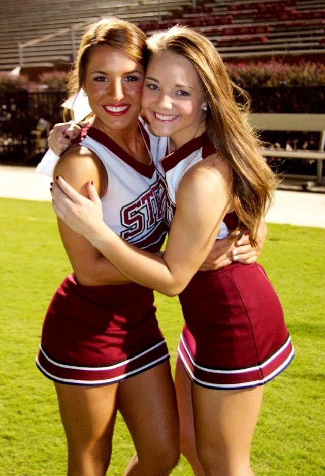 Cheerleaders stock photo footage