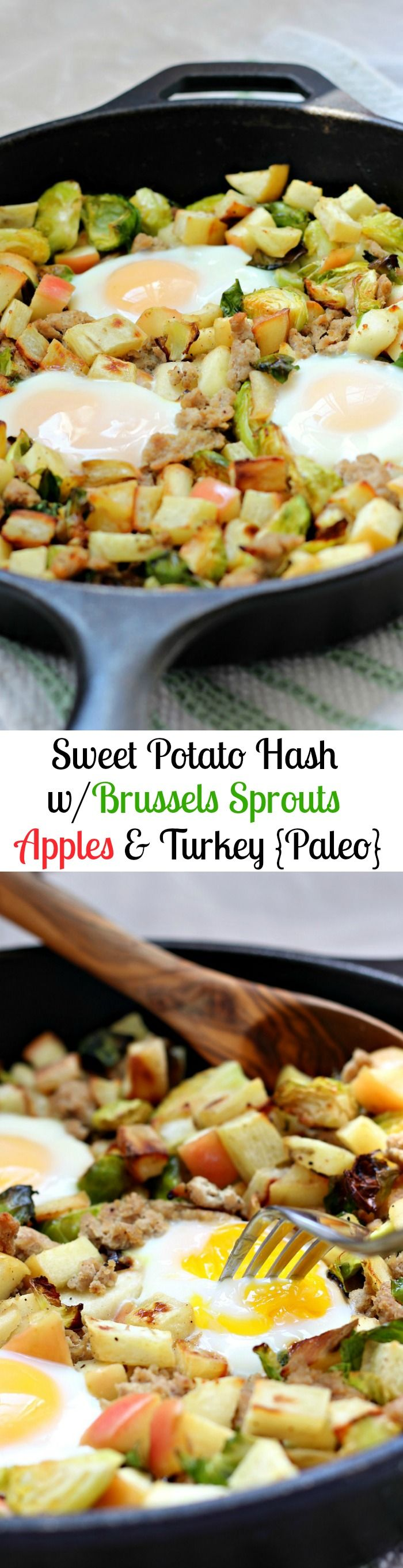 Sweet Potato Hash with Brussels Sprouts, Apples & Turkey (Paleo ...