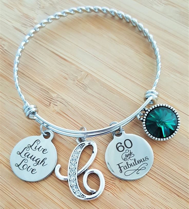 gift happy adjustable available birthday charm bangle products bracelet numbers expandable other