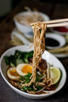 A Warm Bowl of Noodles [30-minute Red Miso Ramen with Soft Boiled Egg and Shiitake]