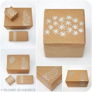 Semplicità ecologica Basta davvero poco per rendere particolari dei semplici pacchetti di carta