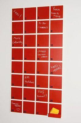 DIY-Anleitung: Beschreibbaren Wandkalender aus MDF-Platten bauen via DaWanda.com