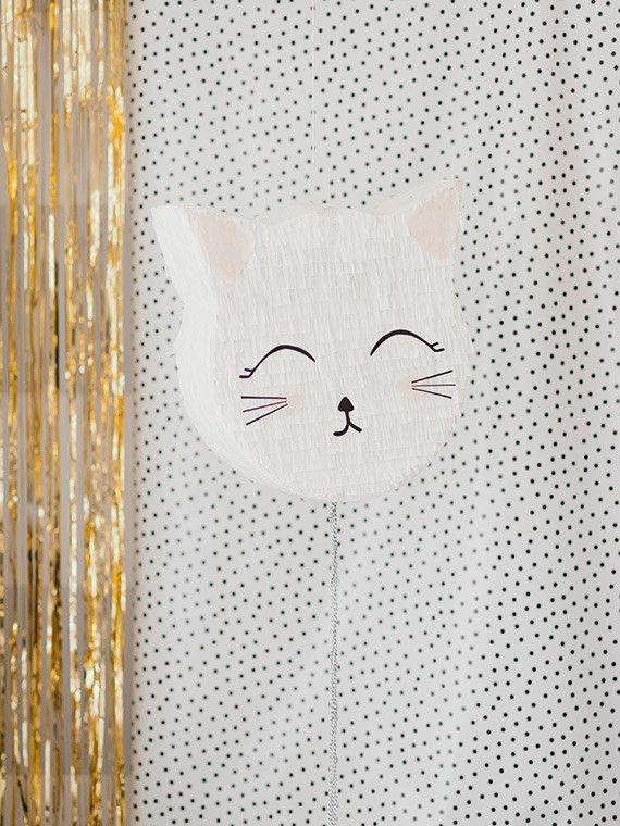 piñata de gato casera