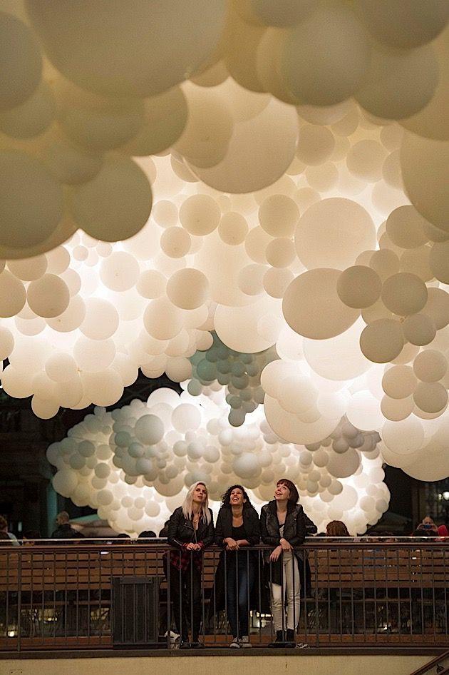 Die weiße Wolkendecke im Convent Garden Market