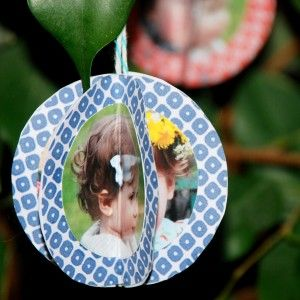 Super cute and simple Christmas photo ornament
