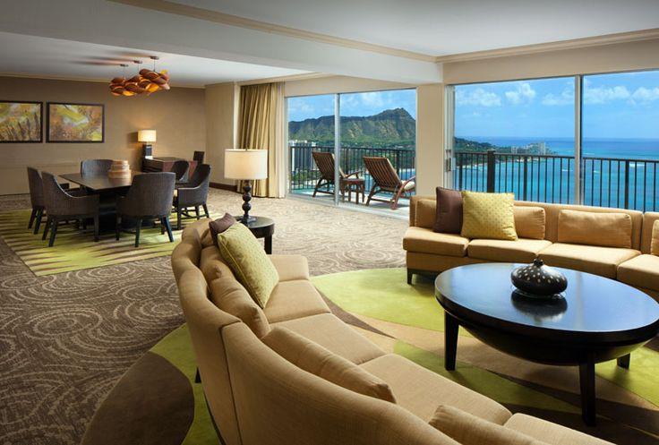 Sheraton Waikiki Hotel - presidential suite living room