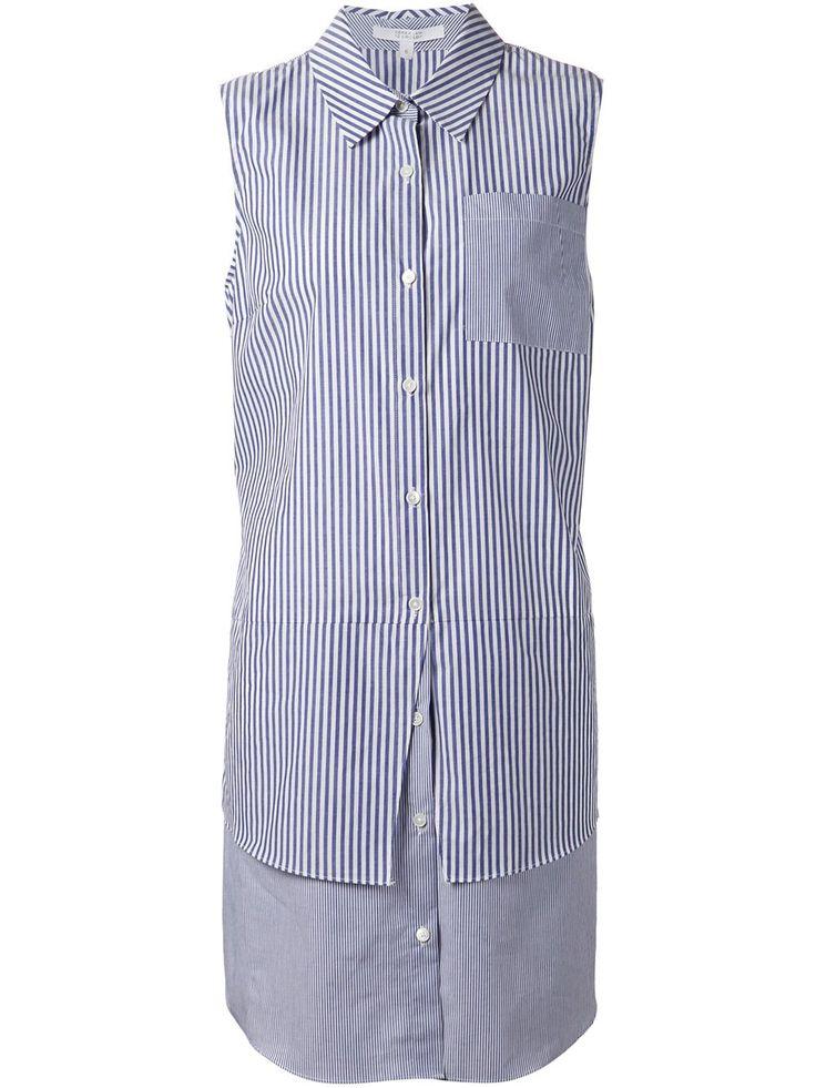 Derek Lam 10 Crosby многослойное платье-рубашка в полоску