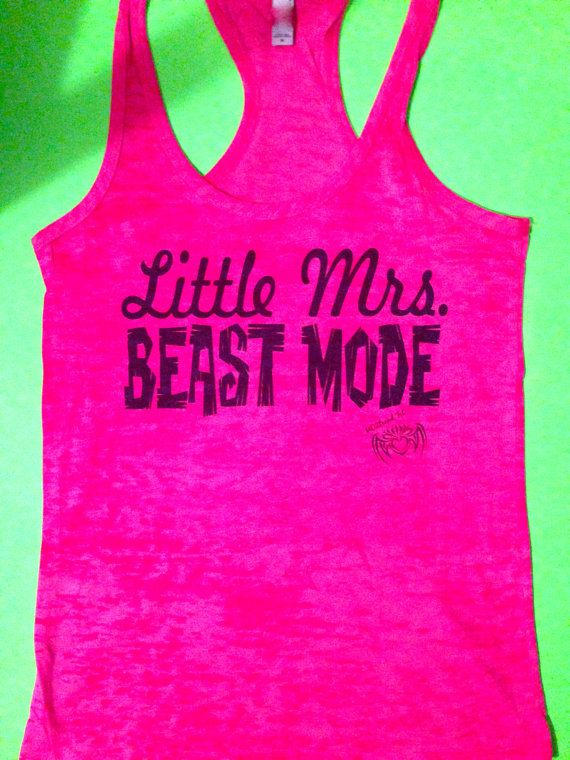 Women's Little MRS. Beast Mode Tank Top. Ladies by MOZtrendFit, $21.95