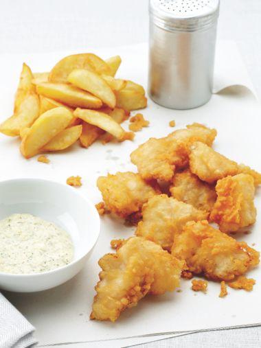 Fish en chips van leng met zelfgemaakte tartaar