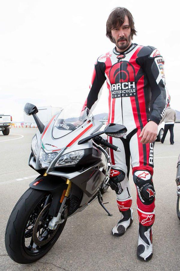Thks Alpinestars! Keanu Reeves and the Arch Motorcycle guys had some serious fun at Chuckwalla Valley Raceway.