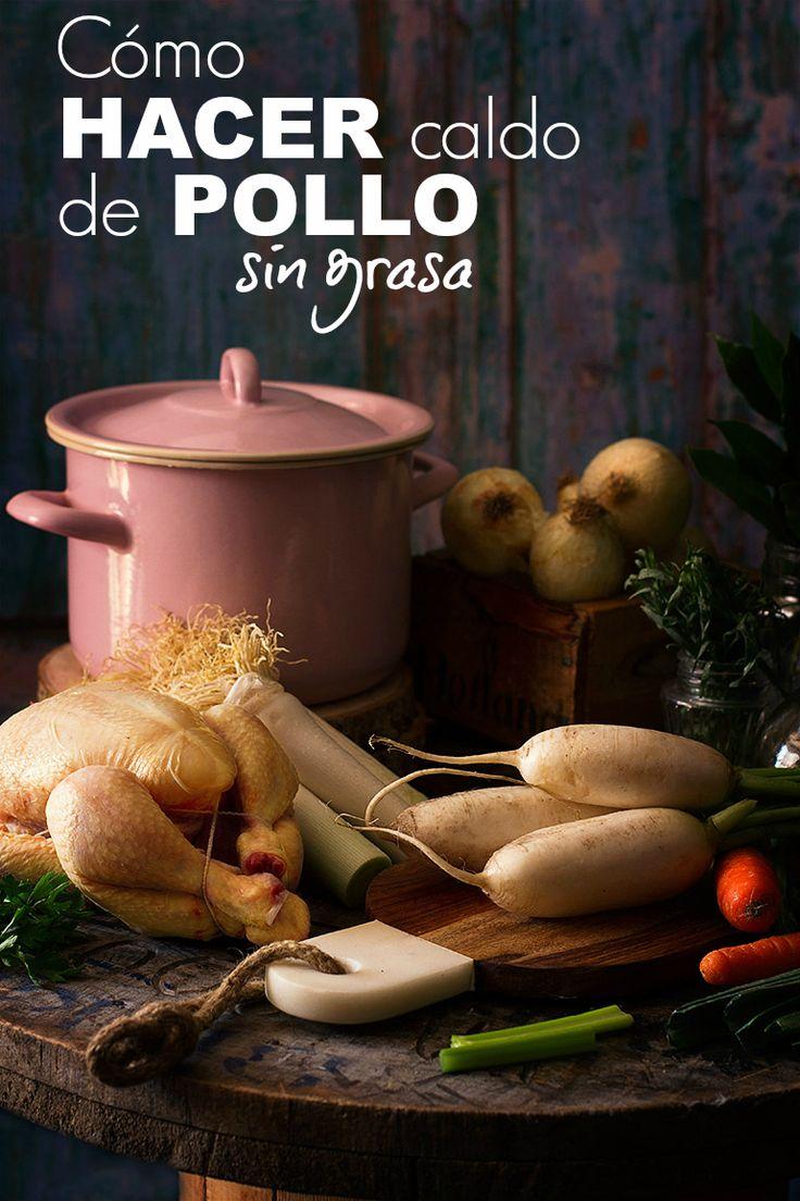 El sistema secreto para hacer Caldo de Pollo Casero [Sin Grasa] - O'Food