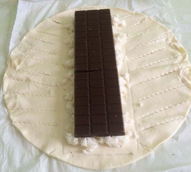 Treccia di sfoglia al cioccolato e cocco1