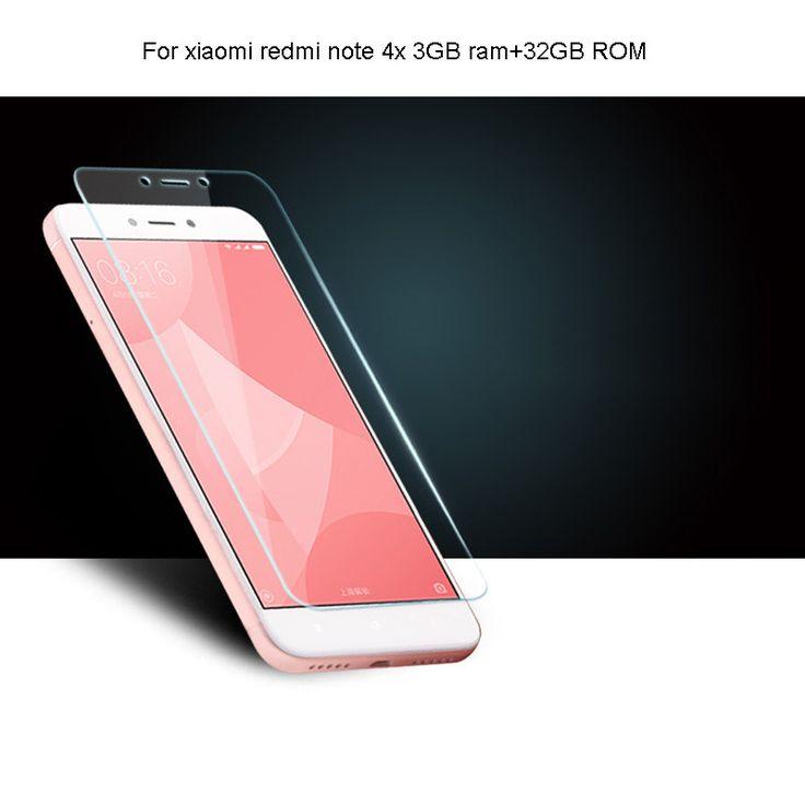 9H Arc tempered glass screen protector for Xiaomi Redmi Note 4x 3GB ram 32GB rom guard vidrio pantalla mica tela Pelicula Vidro