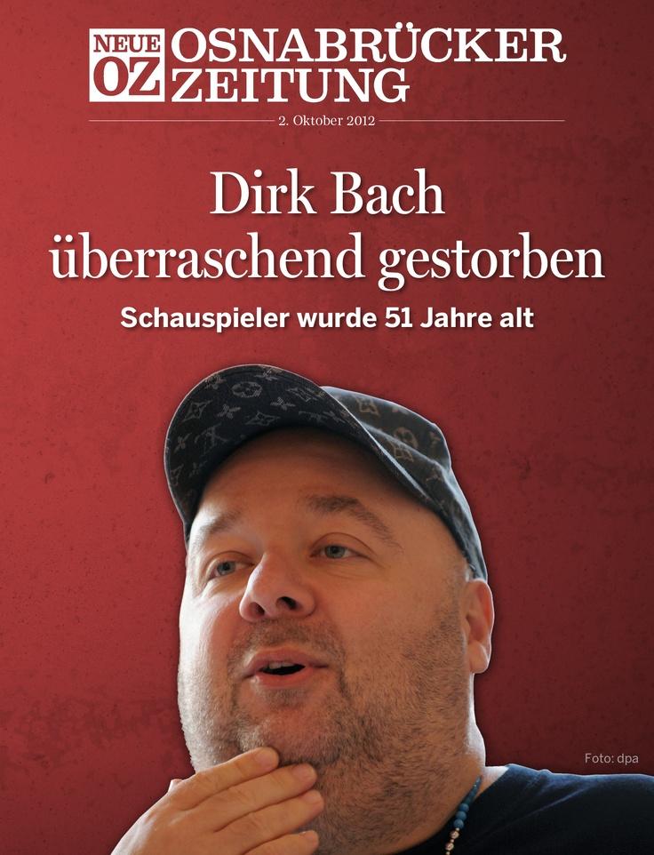 Das iPad-Titelthema von 02. Oktober 2012: Schauspieler und Moderator Dirk Bach gestorben. Sein Leben, Bilder und Reaktionen auf www.noz.de   Infos zum Digitalabo: www.noz.de/digitalaboplus