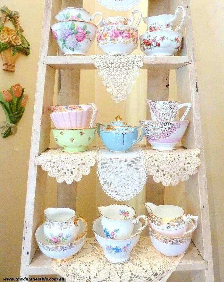 Vintage Decoracion Fiesta ~ Decoracion vintage  Tea Party, Ladder, Tea Time, Shabby Chic, Vintage