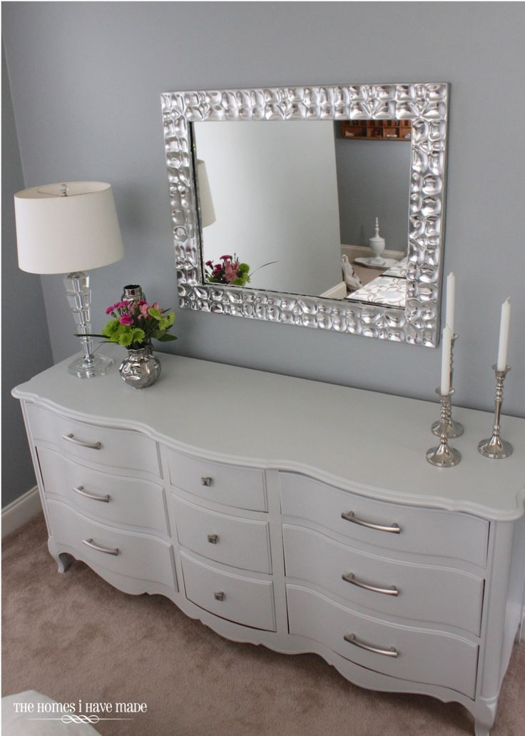 Love the mirror on the dresser instead of attached to the drawers