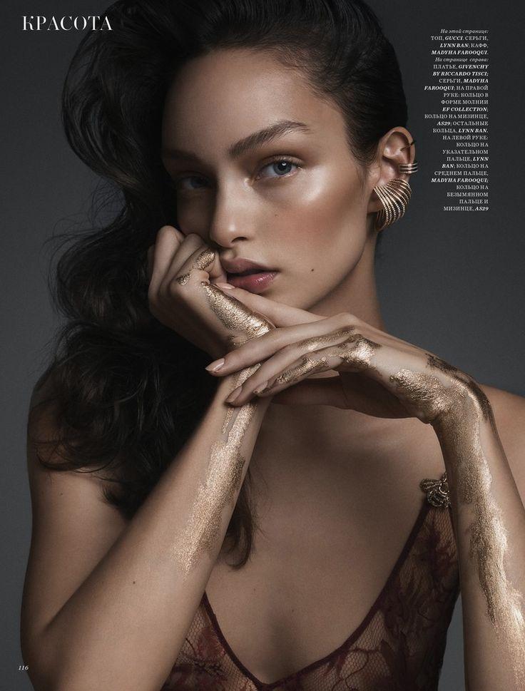 Luma Grothe by Yulia Gorbachenko for Harper's Bazaar KZ beauty