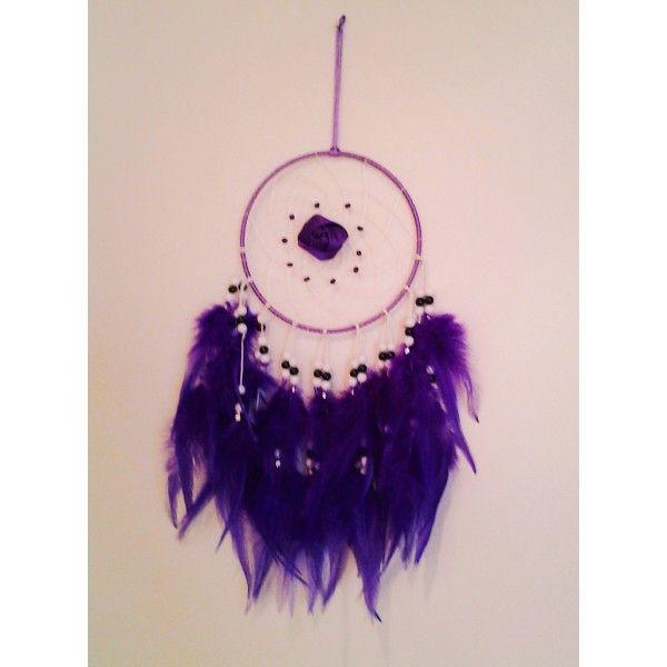 lapač zlých snov fialový 15 x 40 cm