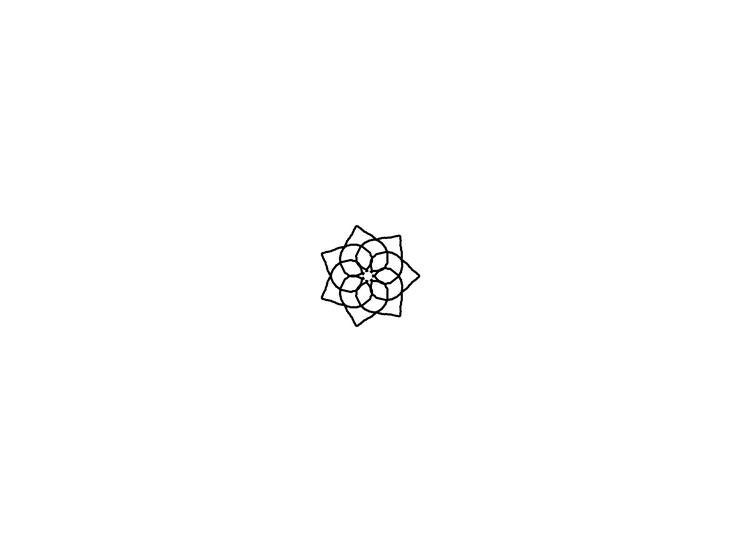 Geometric art design inspiration. Blackwork linework