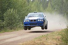 Hop on a rally car!
