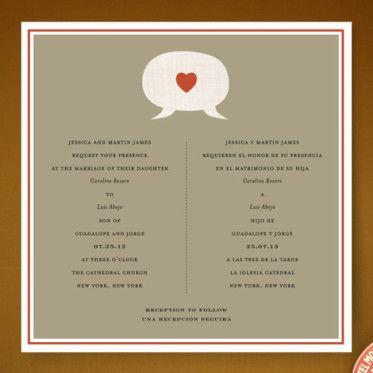 die 99 besten bilder zu bilingual wedding invitations auf pinterest, Wedding invitations
