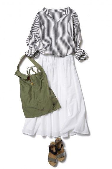 清楚なホワイトスカートは大人可愛く、爽やかに着こなす ― B - ファッションコーディネート通販|ビストロ フラワーズ トウキョウ