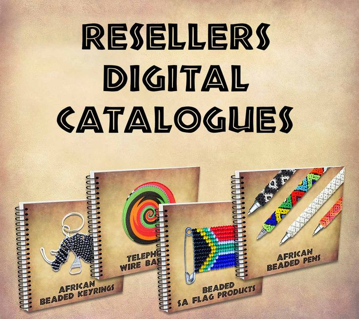 See the full range of Reseller catalogues including Beadwork, beaded pens, lanyards, keyrings, African jewelry, telephone wire baskets, Zulu love letters and so much more. Visit our website www.earthafricacurio.com