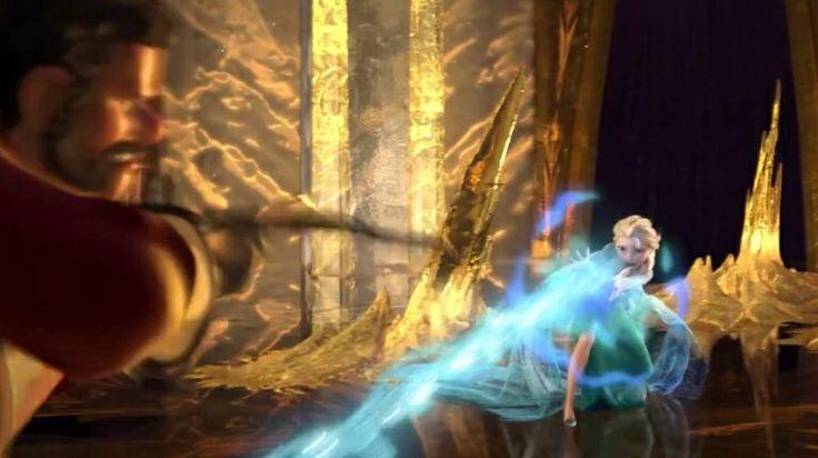 Frozen Elsa Under Attack Epic Fight Scene Frozen
