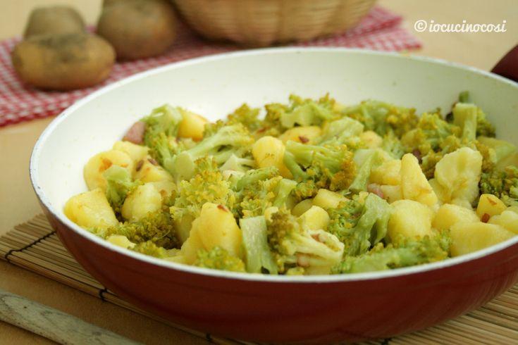 Patate e broccoli in padella