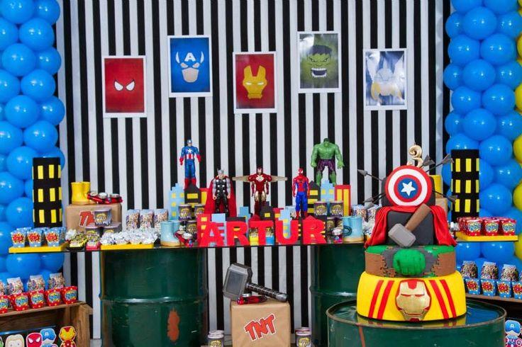 Encontrando Ideias: Festa Vingadores!!