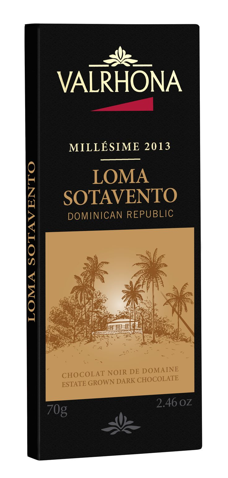 LOMA SOTAVENTO 64% ORIGINE RÉPUBLIQUE DOMINICAINE C'est dans la région de Maria Trinidad Sanchez,au Nord-Est de la République Dominicaine,que se trouve la plantation cacaoyère de Valrhona, Loma Sotavento LOMA SOTAVENTO 64% DOMINICAN REPUBLIC In the region of Maria Trinidad Sanchez, situated in the northeast corner of the Dominican Republic, lies the Valrhona cacao plantation, Loma Sotavento.