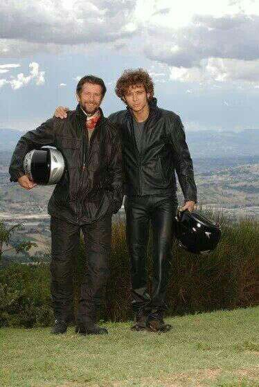Rossi with his dad