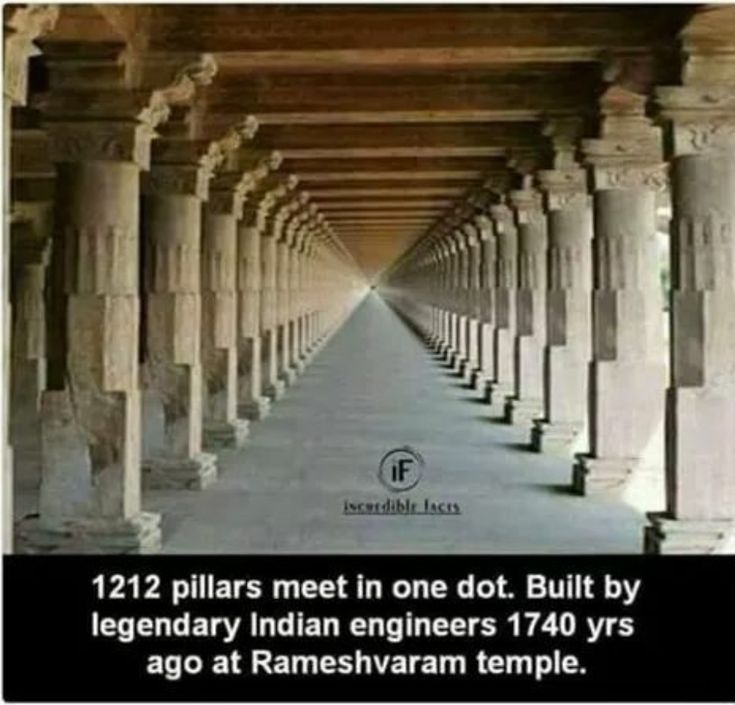 Rameshvaram Temple-1,212 pillars that meet in a vision of infinity. Built 1,740 years ago