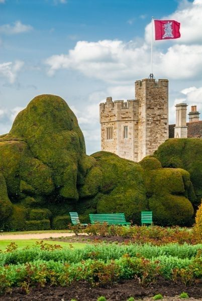 Rockingham Castle, Northamptonshire. Another of the English castles that began as a wooden motte-and-bailey just after the Norman conquest of England, Rockingham has commanding views across the Welland Valley.