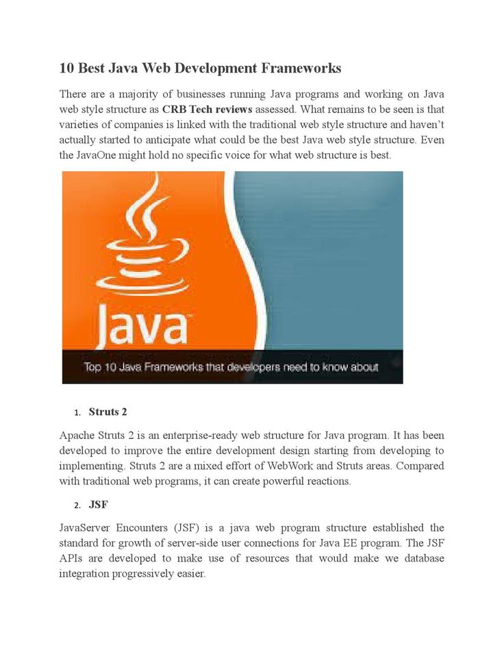 10 Best Java Web Development Frameworks