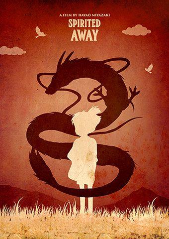 Vintage Hayao Miyazaki minimalista cartel establece por TopPoster
