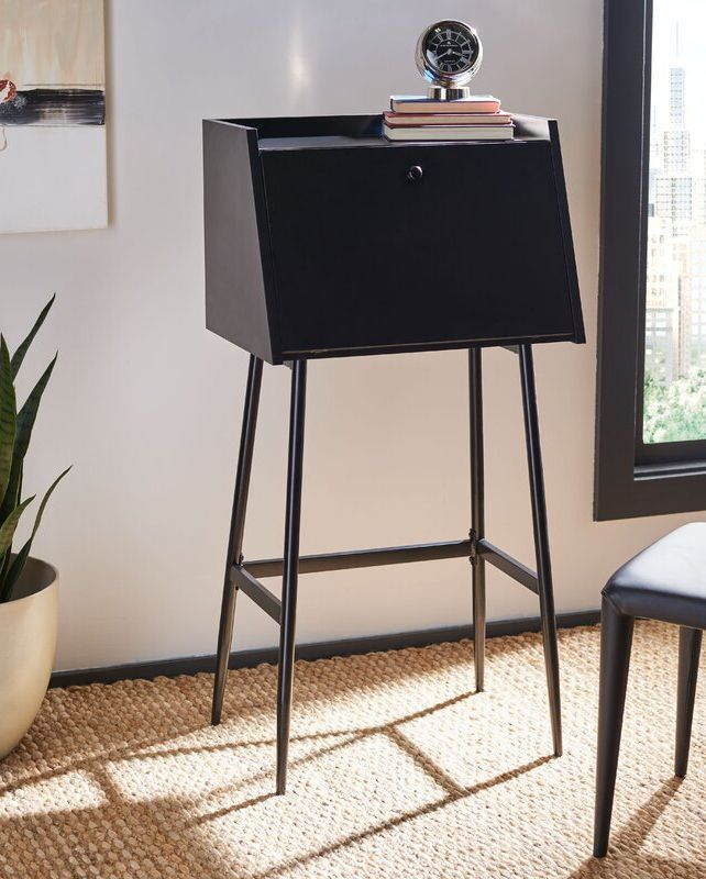 23 Stylish Desks That Will Actually Fit In Your Tiny Apartment In 2020 Modern Secretary Desk Desks For Small Spaces Office Furniture Modern