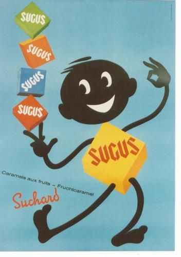 Original vintage poster SUGUS SWISS CANDYS SUCHARD 1964