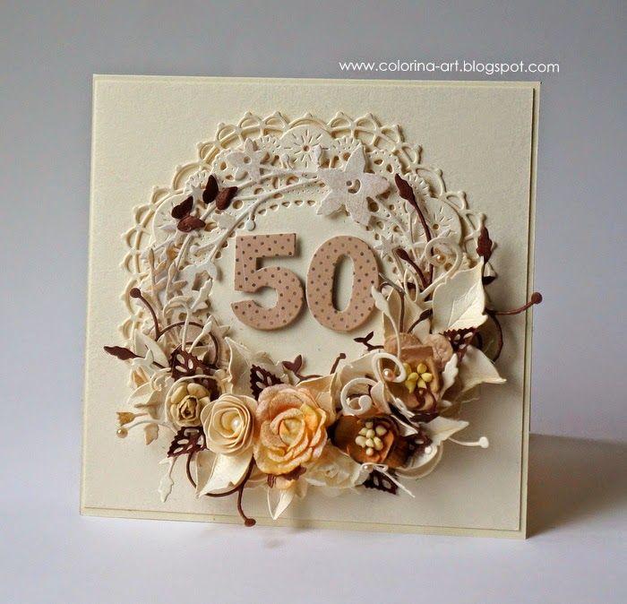 Colorina: Kartka na 50-te urodziny