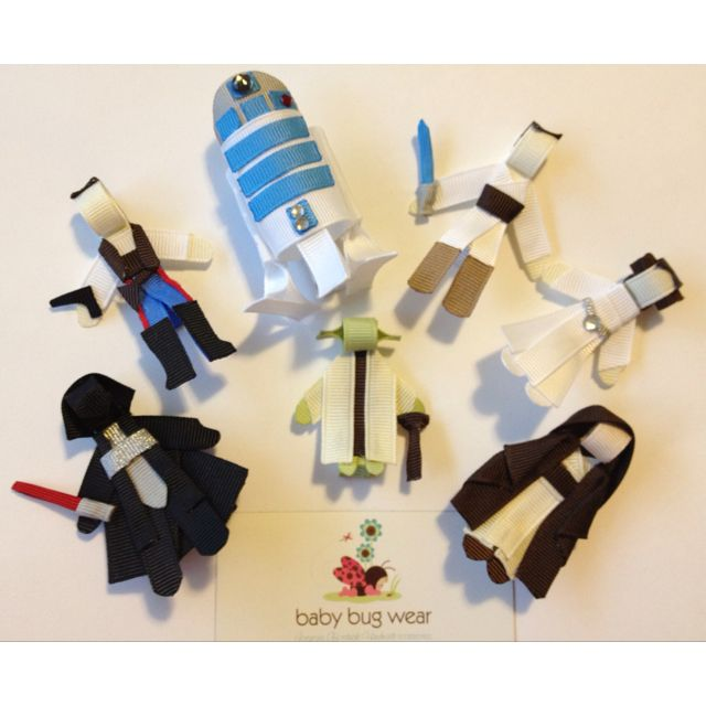 Baby Bug's New Star Wars Ribbon Sculpture Collection! You can find all her creations at www.facebook.com/babybugwear!