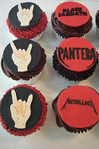 after-party = heavy metal cupcakes??