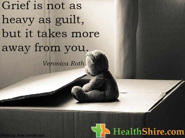 #Grief is not as heavy as #guilt, but it takes more away from you.