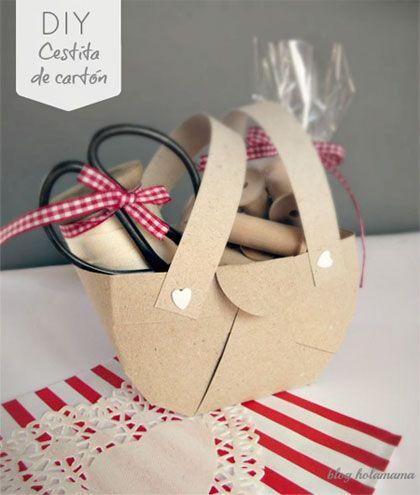 Cestinha de papel - passo a passo | DIY cardboard basket
