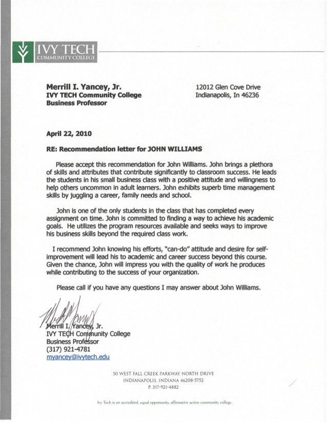 College Acceptance Letter Pdf Inspirational Ivy Tech Letter Of Re