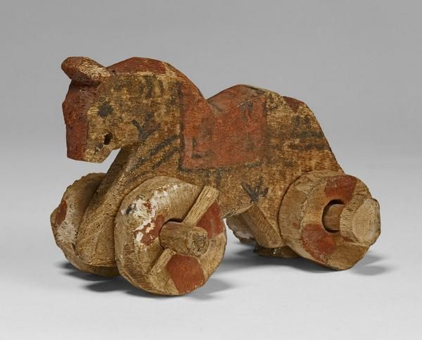 This toy horse may look remarkably modern, but it dates from the Roman period in Egypt (after 30 BC)   The British Museum